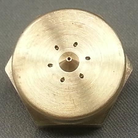 Wide Swirl Pattern (6-Hole) CF Nozzle .012 Diameter