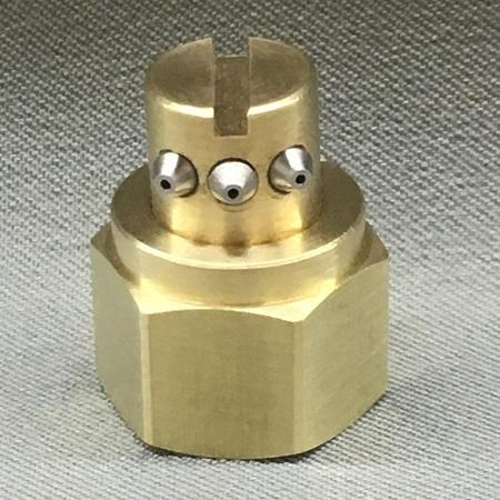 3 Orifice Nozzle, Right Angle, 22.5 Degree Spread, .012 Diameter